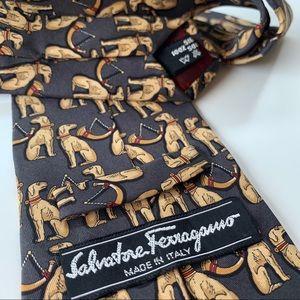 Salvatore Ferragamo Accessories - Salvatore Ferragamo Print Pattern Mens Tie